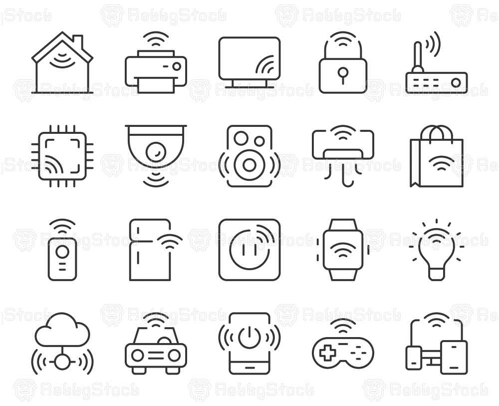 Internet of Things - Light Line Icons