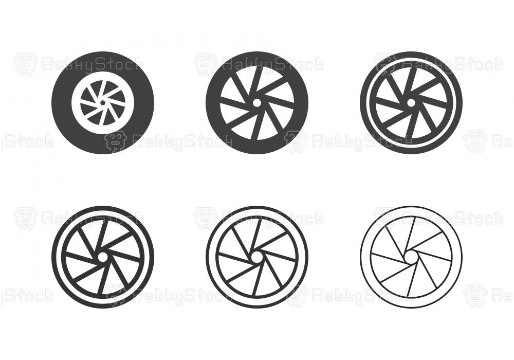 Bicycle Wheel Icons - Multi Series
