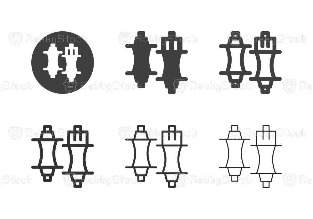 Bicycle Hub Icons - Multi Series