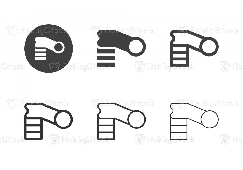 Bicycle Handlebar Stem Icons - Multi Series