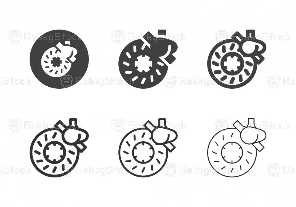 Disc Brake Icons - Multi Series