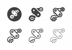 Bicycle Rear Derailleur Icons - Multi Series