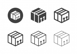 Cardboard Box Icons - Multi Series