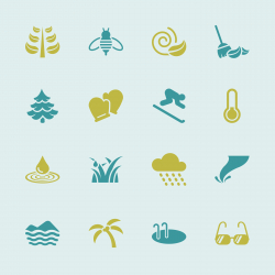 All Season Icons Set 2 - Color Series | EPS10