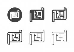 Building Plan Icons - Multi Series