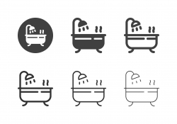 Bathtub Icons - Multi Series