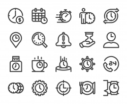 Time Management - Bold Line Icons