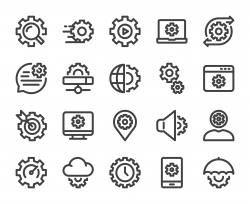 Gear Element - Bold Line Icons