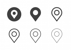 Map Pinpoint Icons - Multi Series