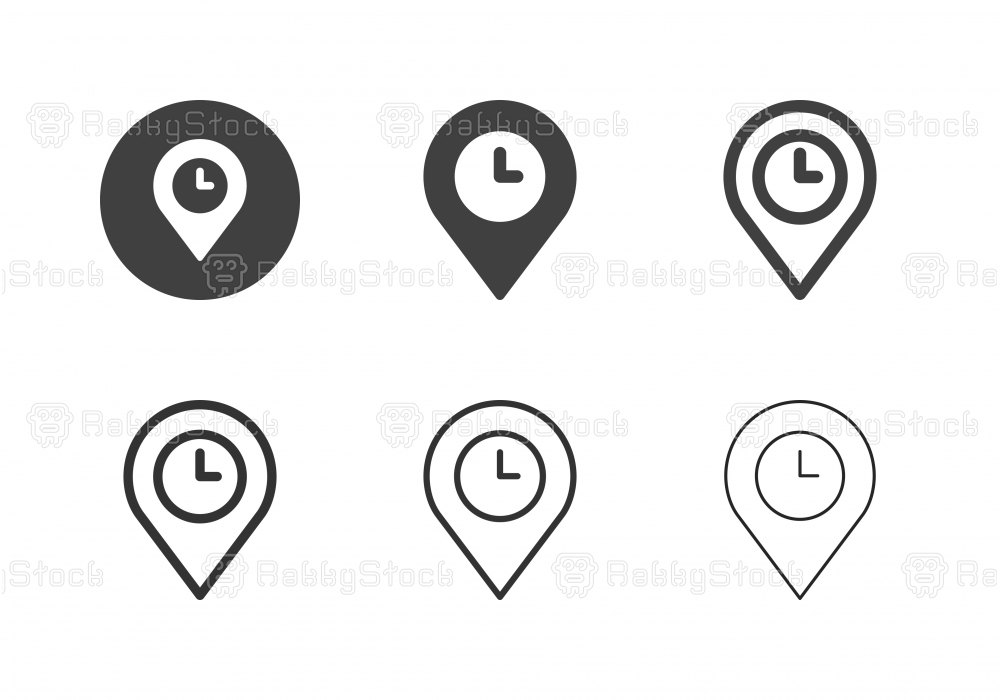 Time Zone Icons - Multi Series