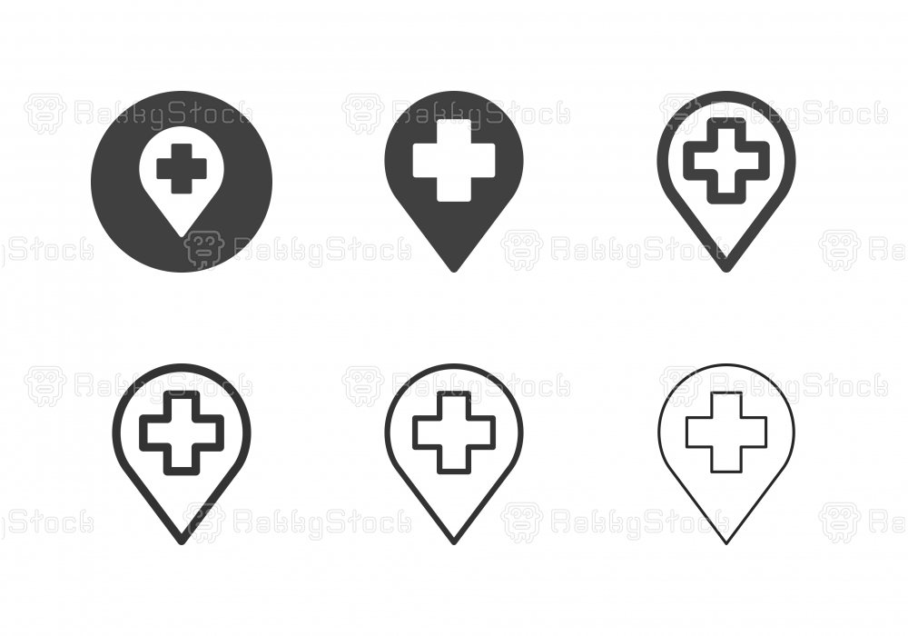 Hospital Location Icons - Multi Series