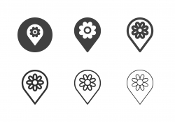 Flower Field Point Icons - Multi Series