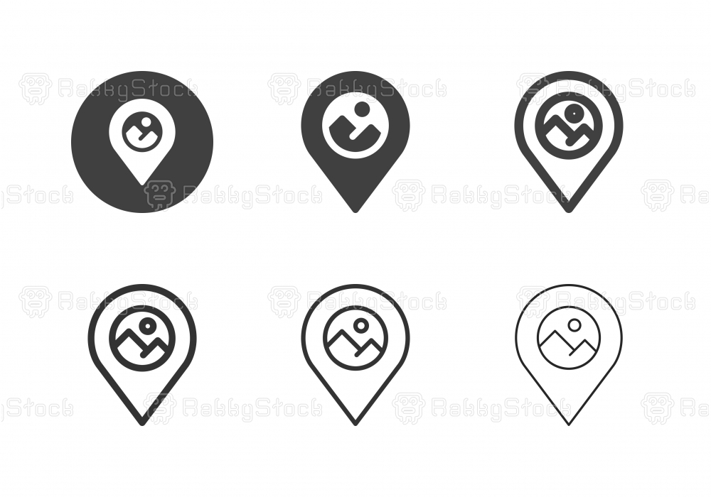 National Park Point Icons - Multi Series