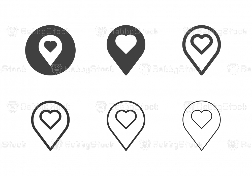 Love Position Icons - Multi Series