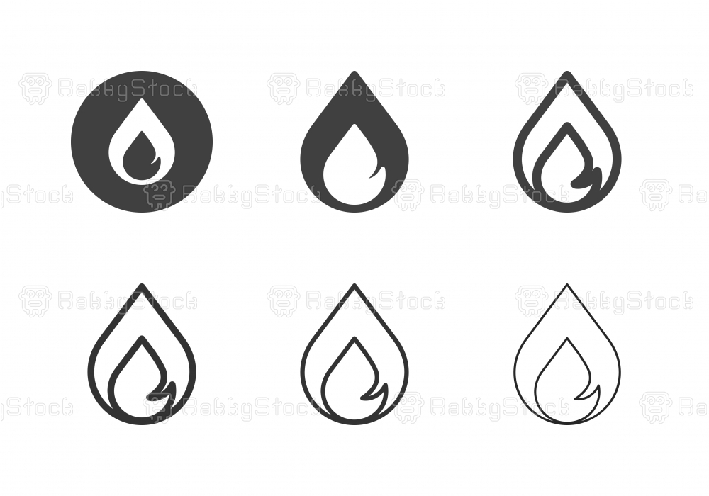 Fire Flame Icons - Multi Series