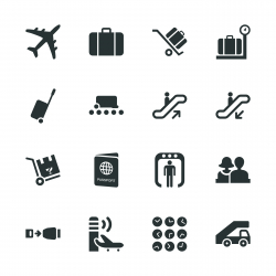 Airport Silhouette Icons