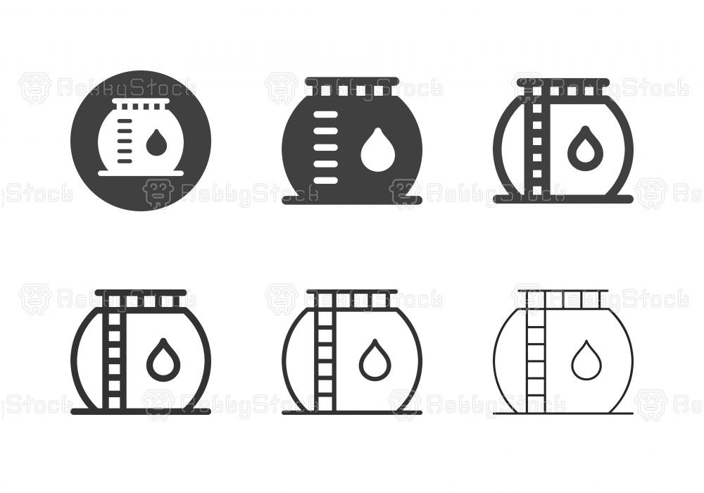 Oil Refinery Icons - Multi Series