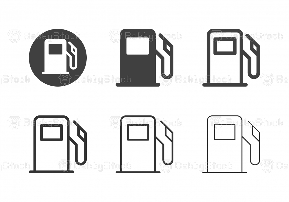Fuel Pump Icons - Multi Series