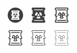 Waste Barrel Icons - Multi Series
