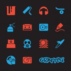 Graffiti Icons - Color Series   EPS10