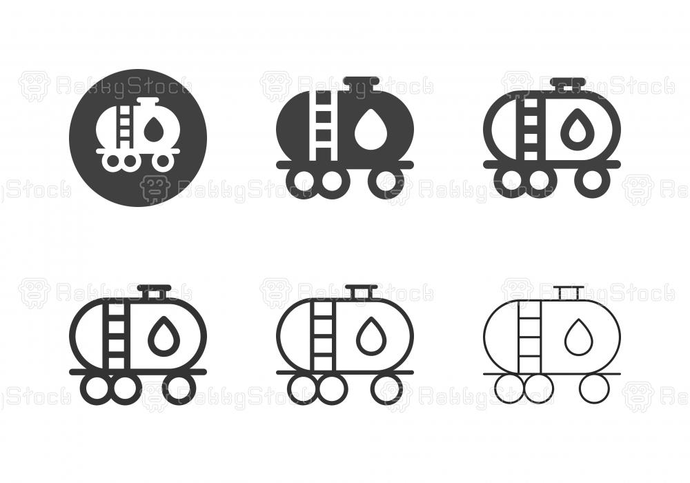 Fuel Tanker Icons - Multi Series