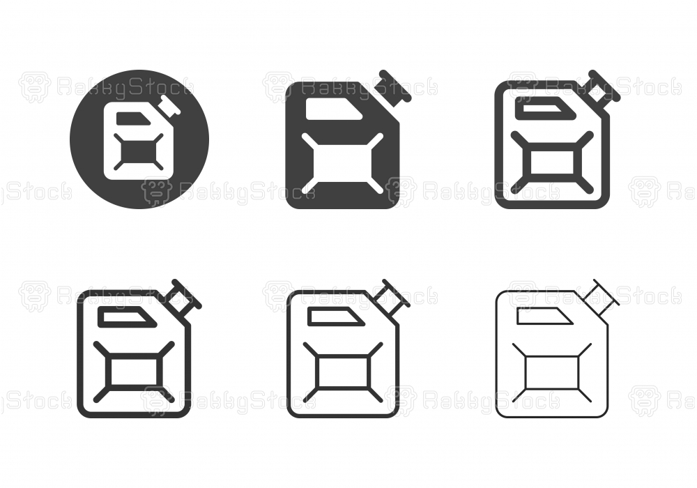 Jerrycan Oil Icons - Multi Series