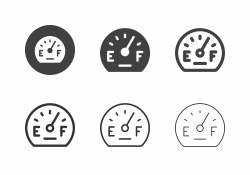 Fuel Gauge Icons - Multi Series