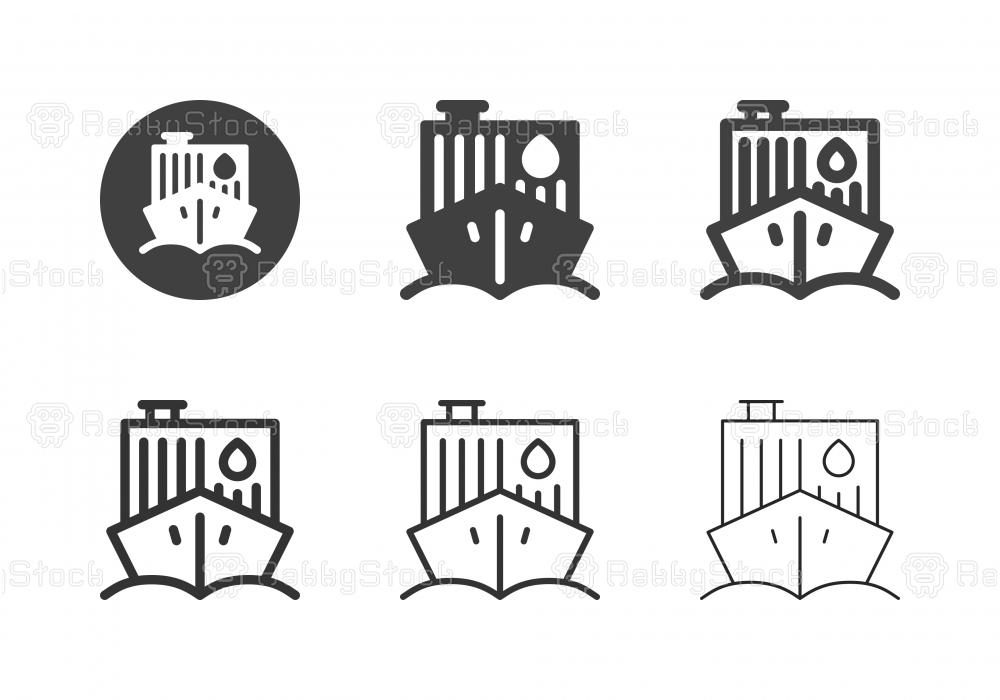 Tanker Ship Icons - Multi Series