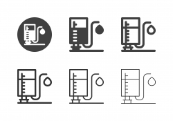 Retro Oil Hand Pump Icons - Multi Series