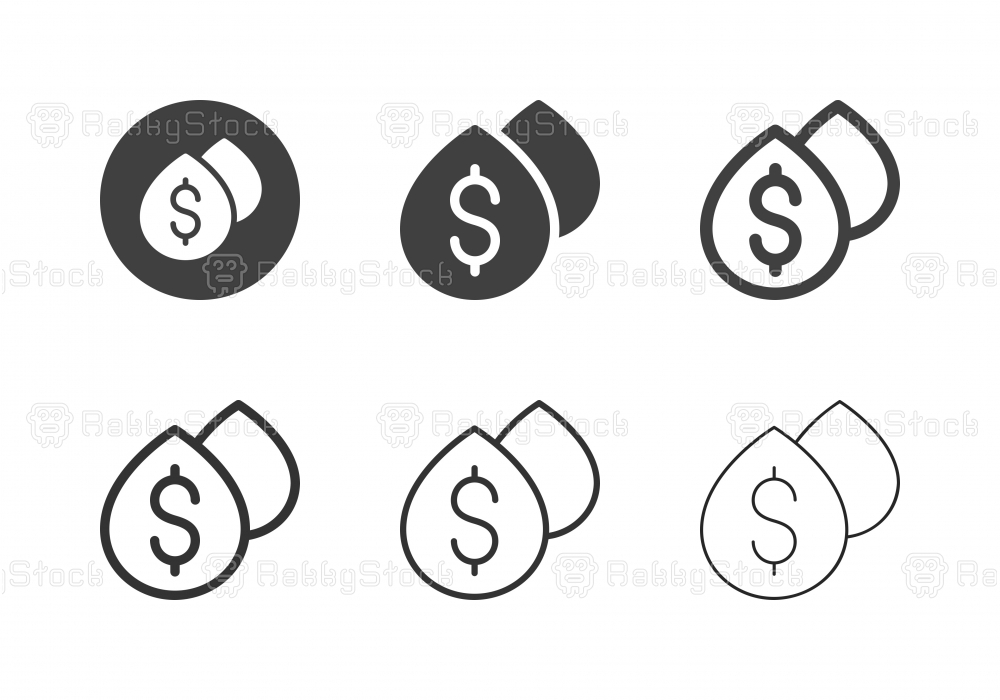 Oil Industry Business Icons - Multi Series