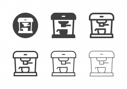 Espresso Coffee Machine Icons - Multi Series