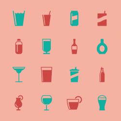 Drink Icons Set 2 - Color Series | EPS10
