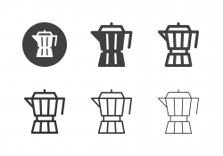 Moka Pot Icons - Multi Series