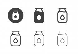 Milk Bottle Icons - Multi Series