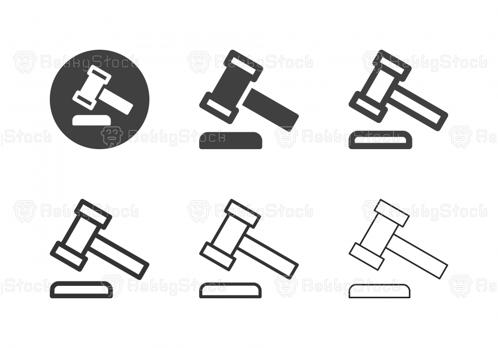 Law Hammer Icons - Multi Series