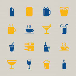 Drink Icons Set 1 - Color Series | EPS10