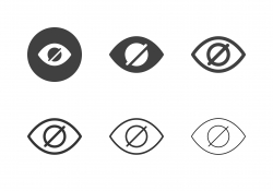 Red Eye Reduction Icons - Multi Series