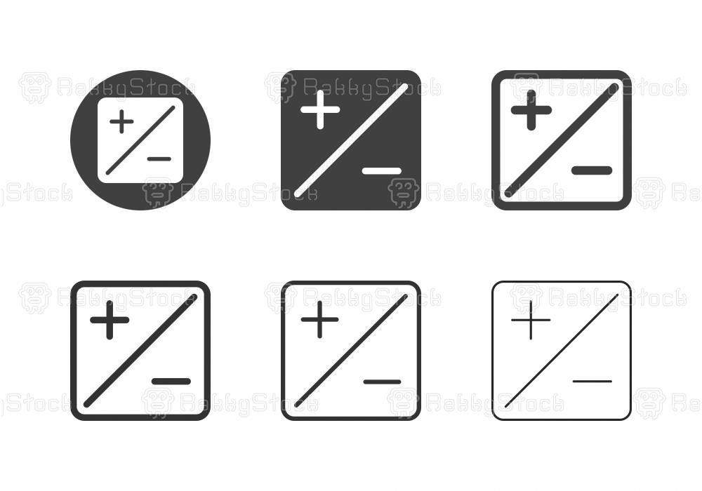 Exposure Compensation Icons - Multi Series