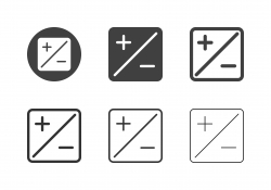 Exposure Compensation Icons - Multi Series