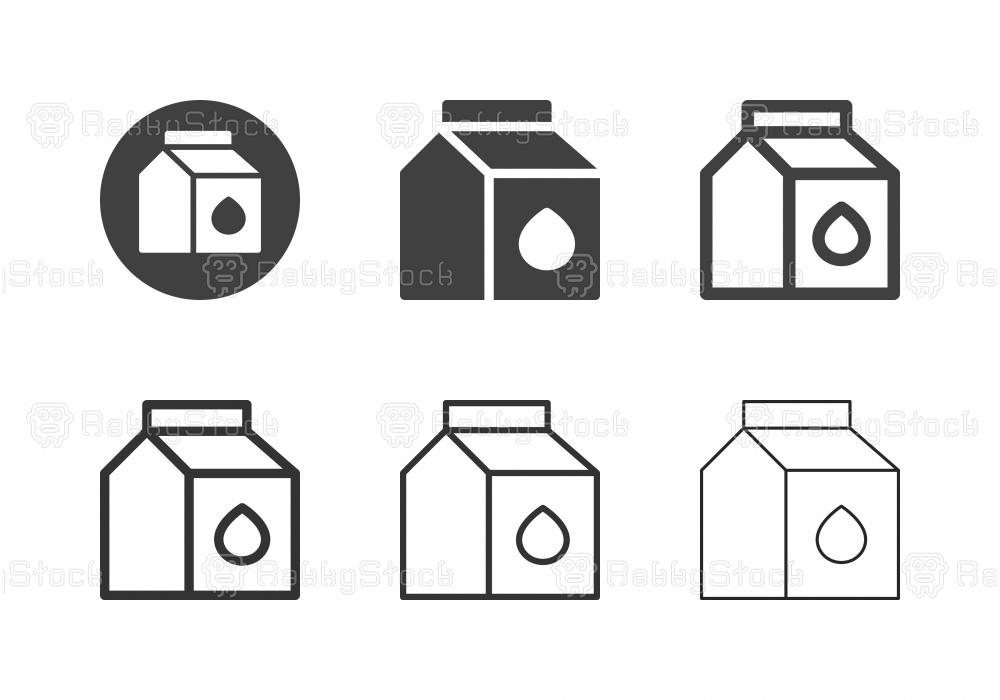 Milk Box Icons - Multi Series