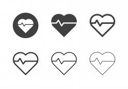 Heart Pulse Icons - Multi Series