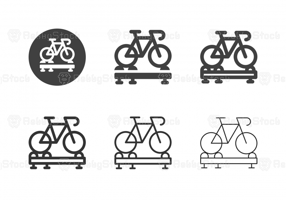 Roller Cycling Trainer Icons - Multi Series