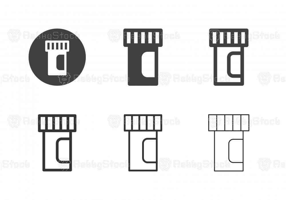 Medicine Bottle Icons - Multi Series