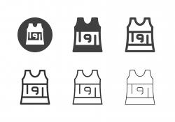 Sleeveless Running Shirt Icons - Multi Series