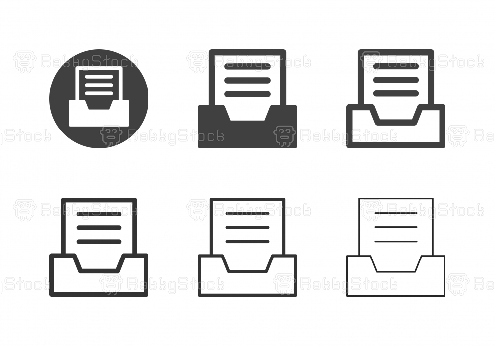 Document Tray Icons - Multi Series