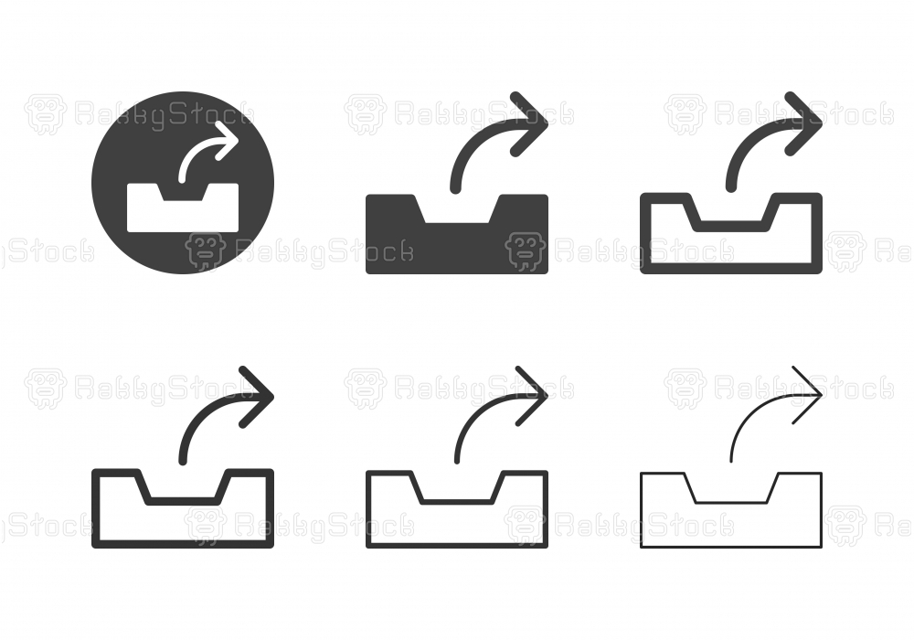 Outbox Tray Icons - Multi Series