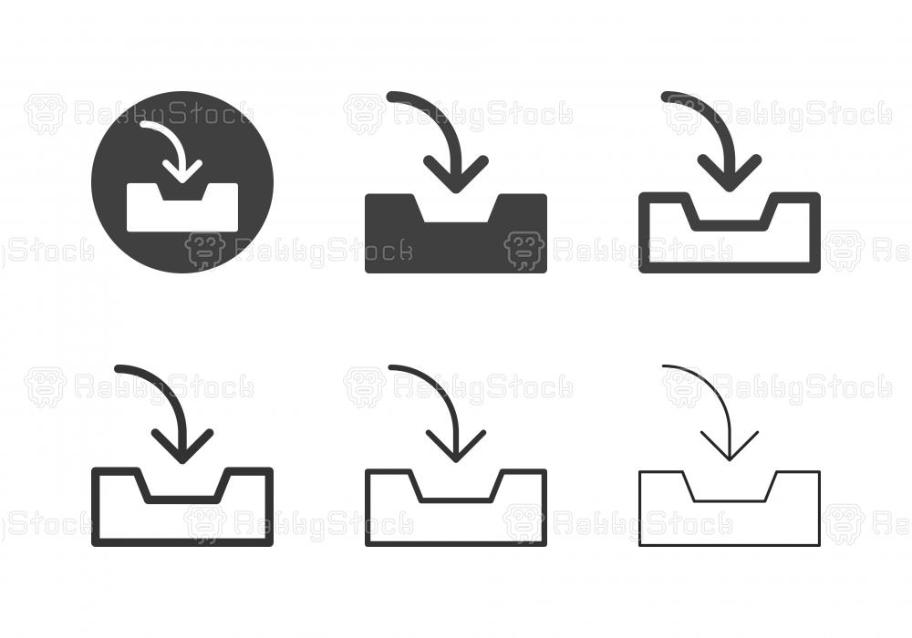 Inbox Tray Icons - Multi Series