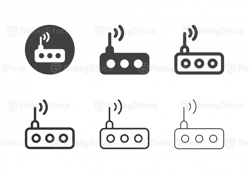 Wireless Router Icons - Multi Series