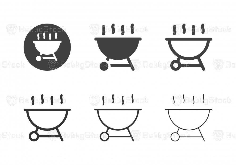 Barbecue Grill Icons - Multi Series