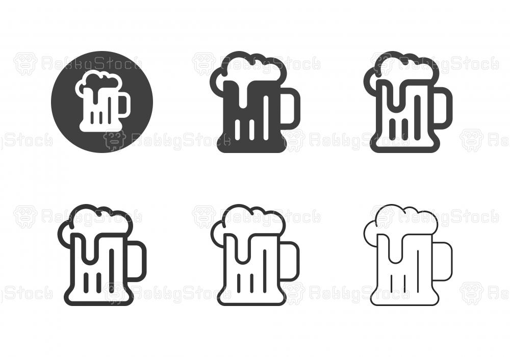 Beer Mug Icons - Multi Series